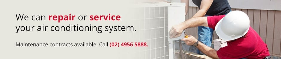 We can repair or service your air conditioning system