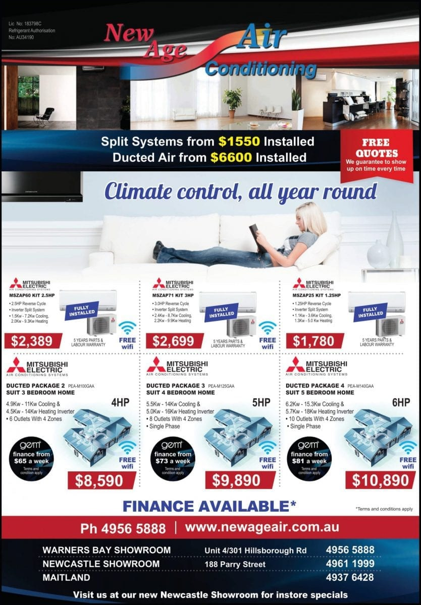 Current specials on air conditioners